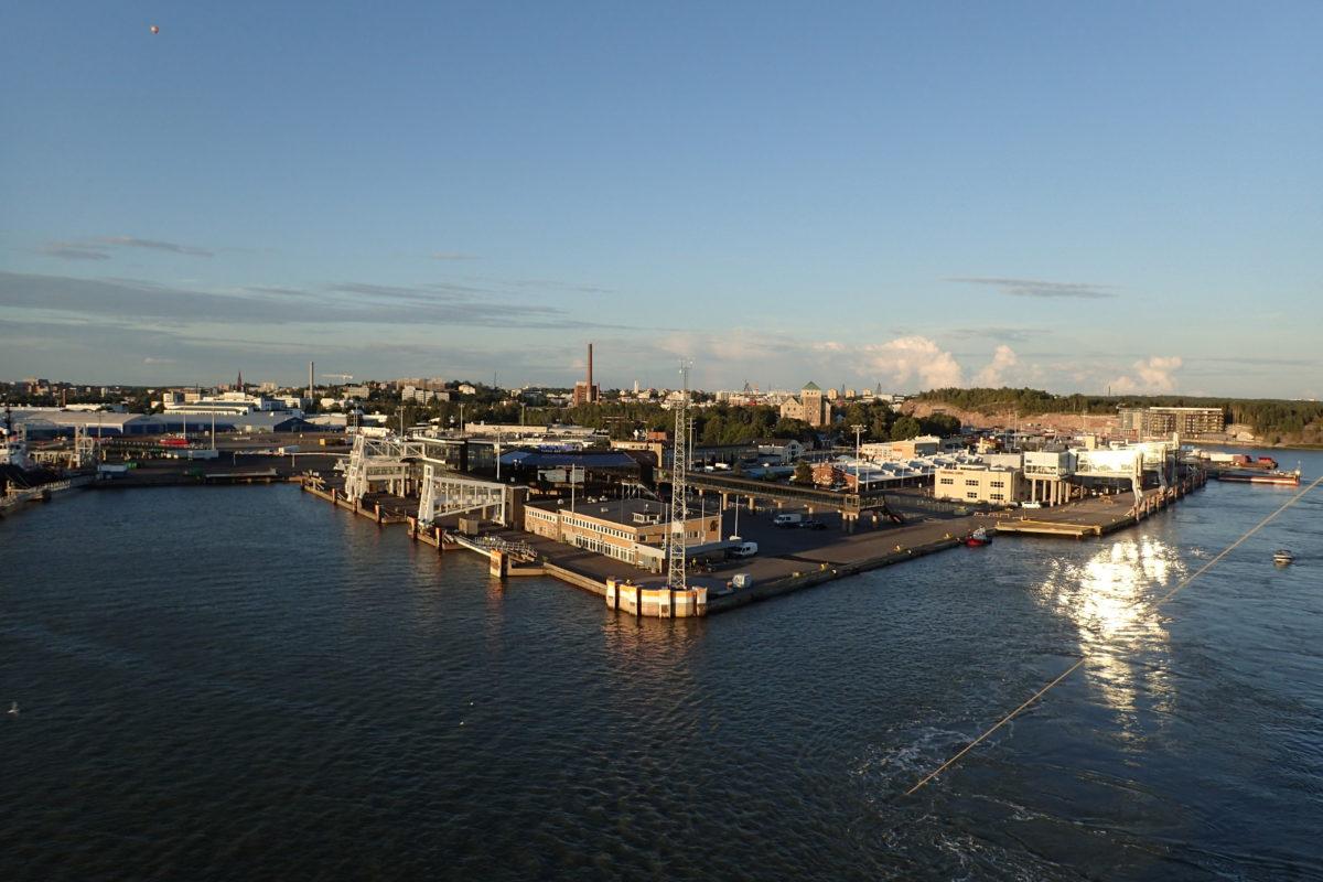 Vista de Turku des del ferry