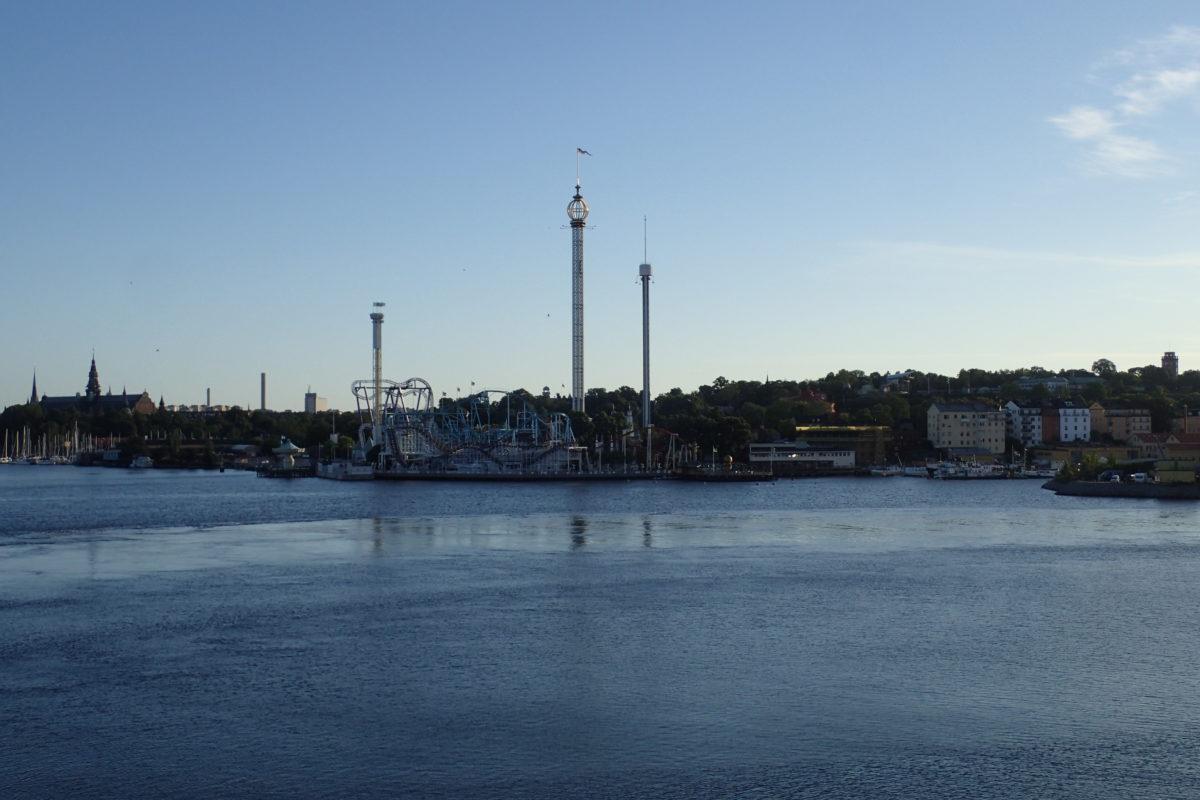 Vista de l'arribada a Stockholm des del Ferry