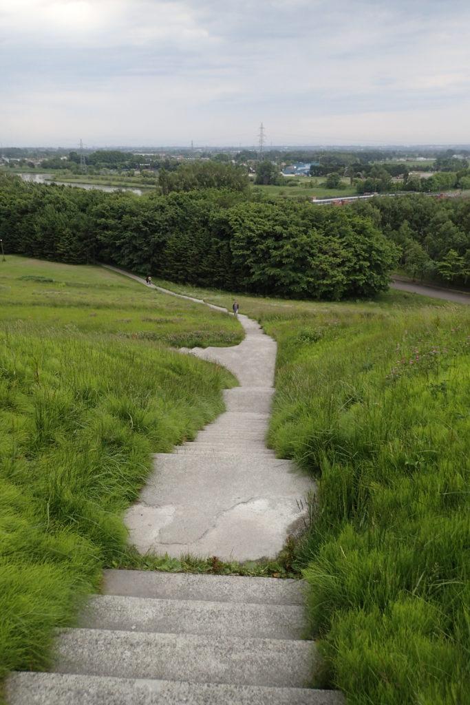 Vista d'un camí del Moerenuma park