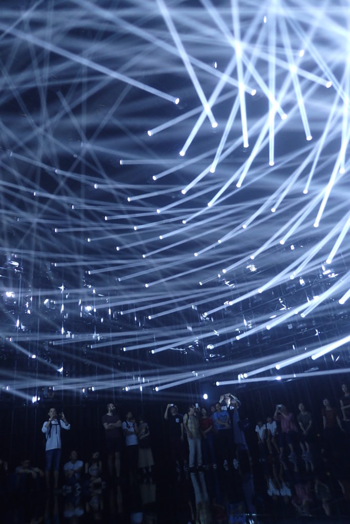 Coreografia de raigs de llum