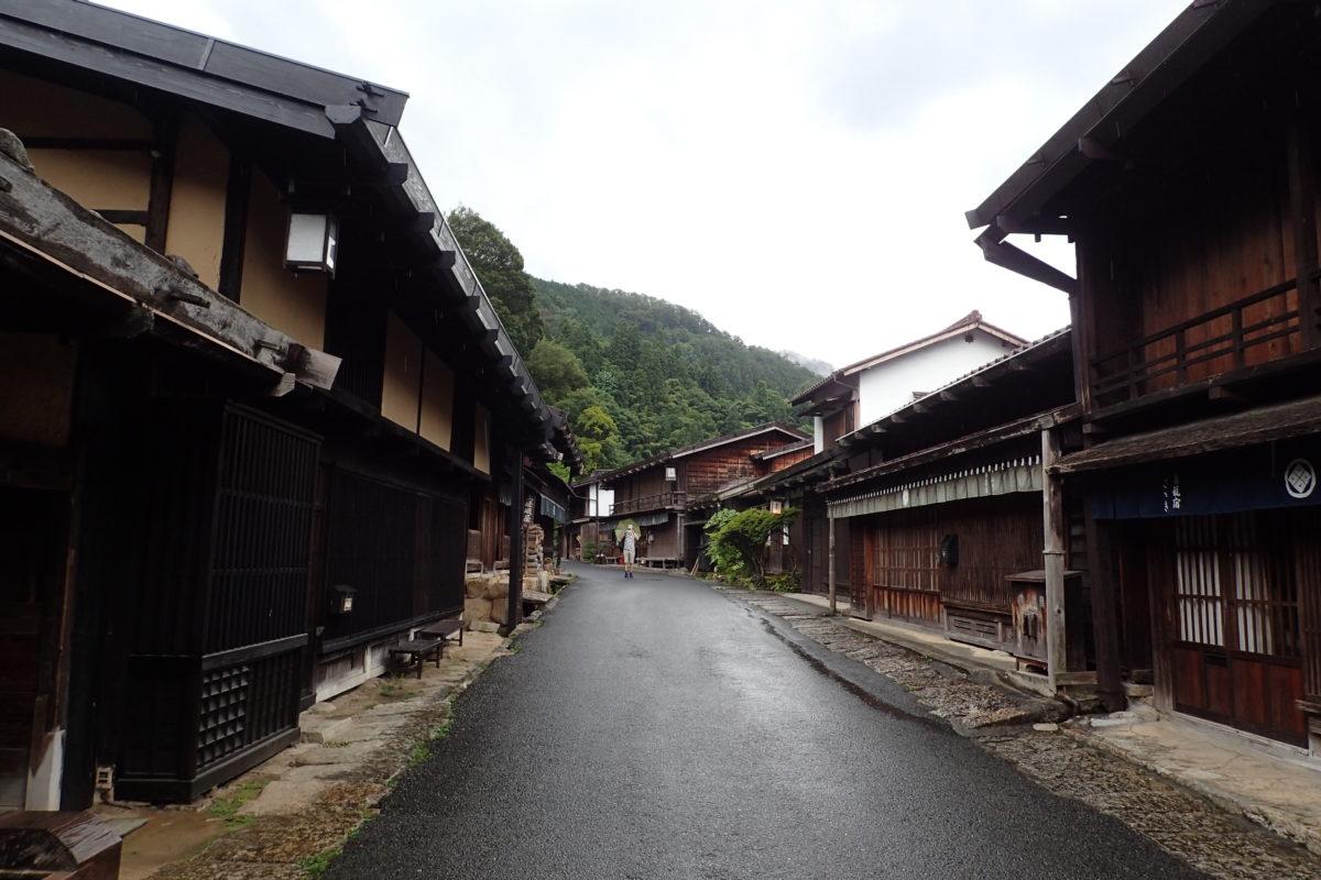 Carrer de Tsumago, moll per la pluja