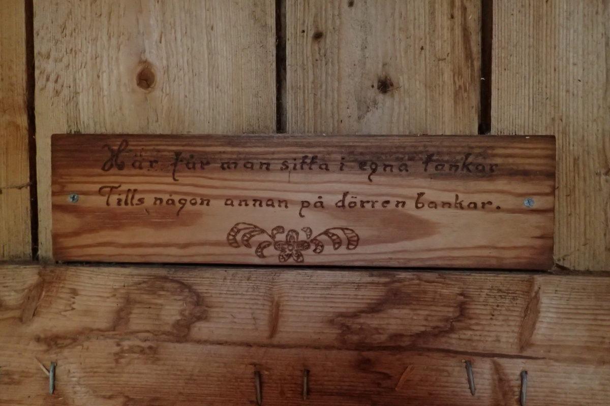 Detall de la inscripció en suec