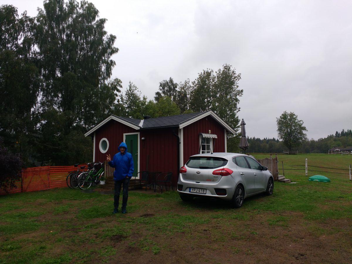 Vista exterior de l'stuga de Sjötofta