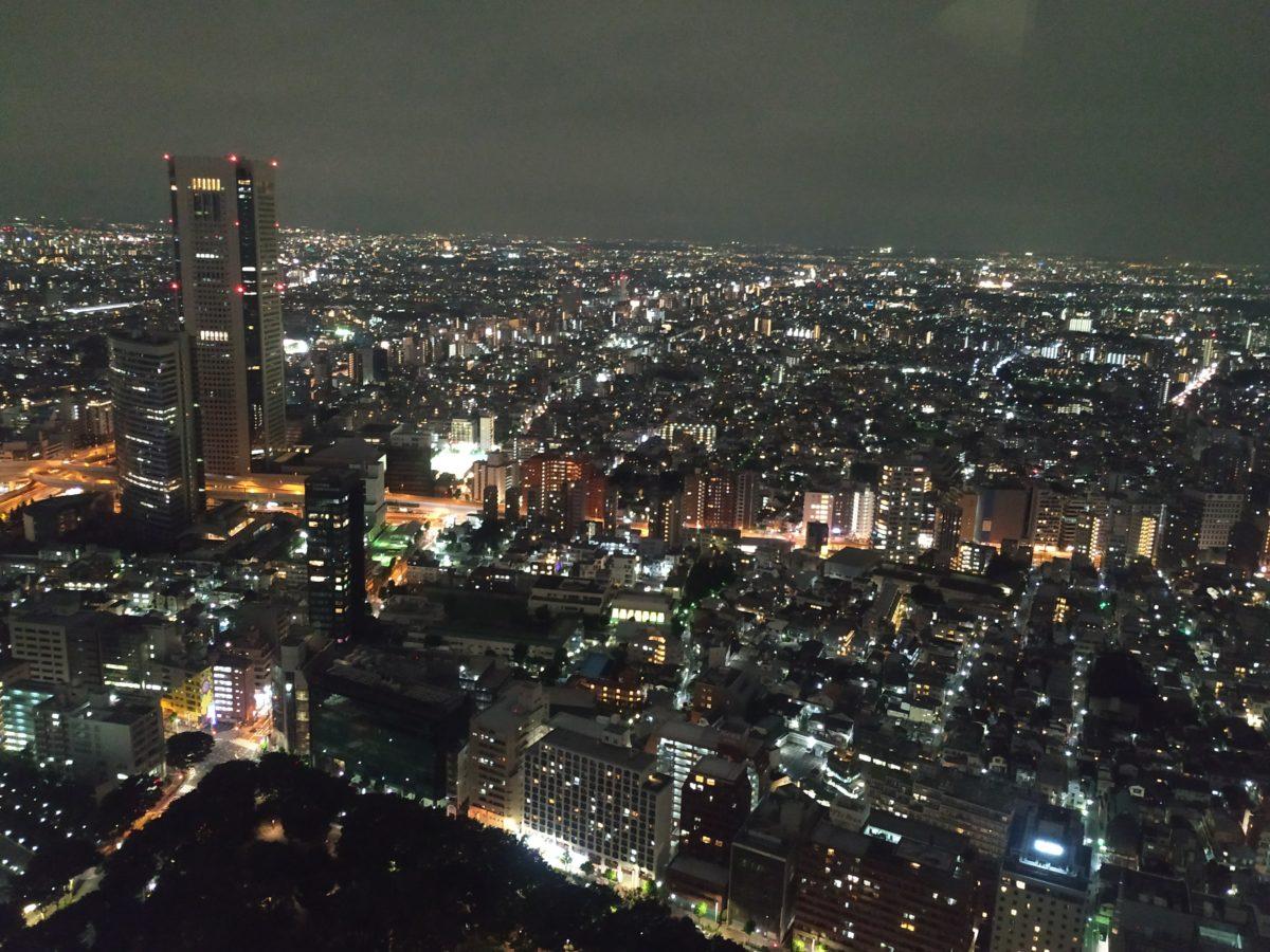Vista nocturna de Tokyo des de l'edifici del govern Metropolità