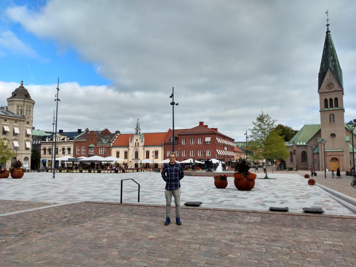 Vista general de la plaça principal de Skövde
